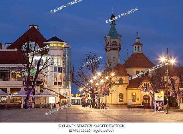 Evening in Sopot, Poland