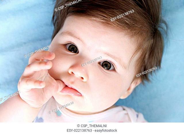 Trusting baby eyes