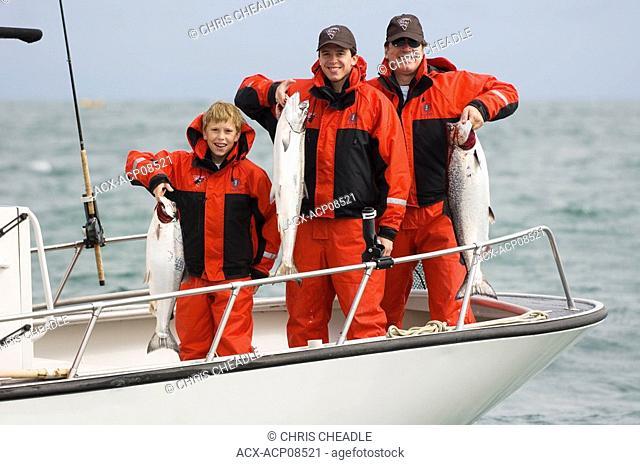 Sport fishing at Langara Island Lodge, Queen Charlotte Islands, British Columbia, Canada