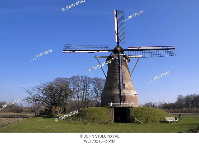 The Van Pieper windmill near the Dutch village Rekken