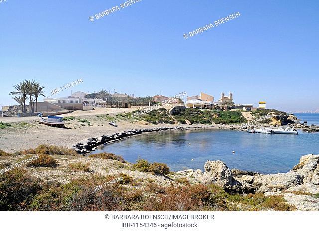 Harbor, Tabarca, Isla de Tabarca, Alicante, Costa Blanca, Spain, Europe