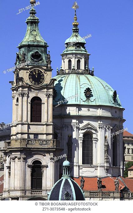 Czech Republic, Prague, Lesser Town, St Nicholas Church,