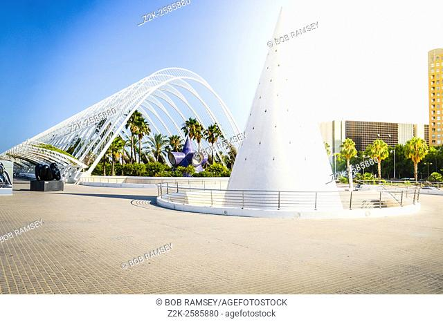 Architecture of the Umbracle in the city of Valencia in Spain