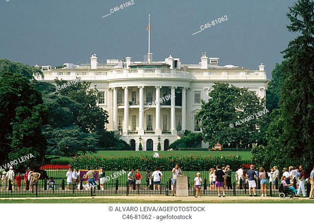 White House (designed by James Hoban), Washington DC. USA