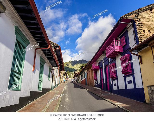 Street of La Candelaria, Bogota, Capital District, Colombia