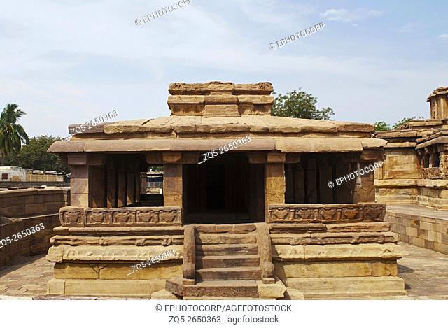 Gaudara gudi (temple), Aihole, Bagalkot, Karnataka, India. Galaganatha Group of temples
