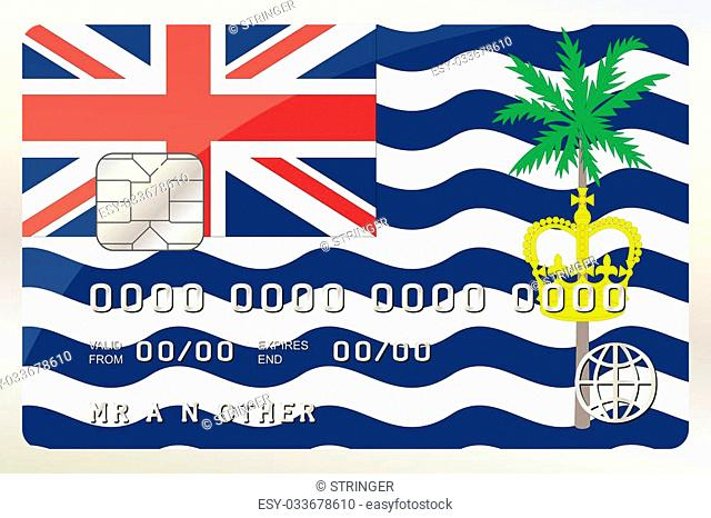 An Illustration of a Credit Card with the Card being the flag of British Indian Ocean Territory