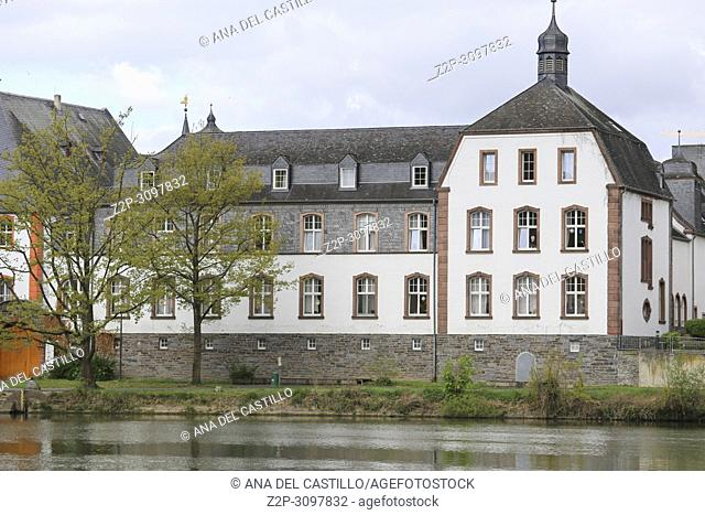 Bernkastel-Kues - town in Rhineland-Palatinate region of Germany Moselle river on April 23, 2017