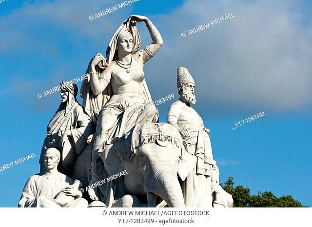 Albert memorial statues, Hyde park, London, England
