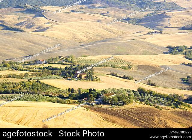 view of typical Tuscany landscape in summer, Italy