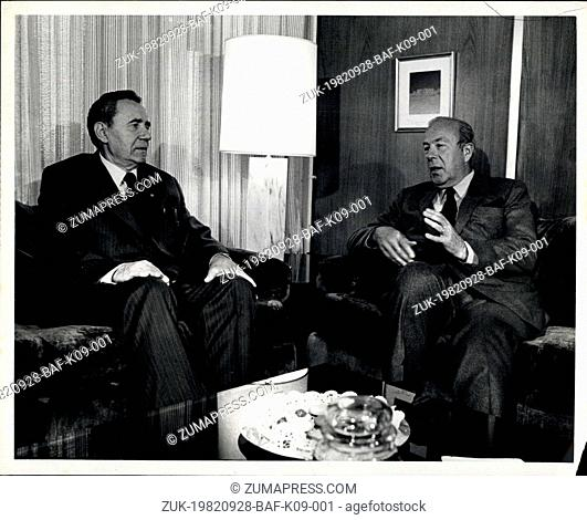 Sep. 28, 1982 - The United State Mission To The United Nation, New York: United States Secretary of State, George Schultz