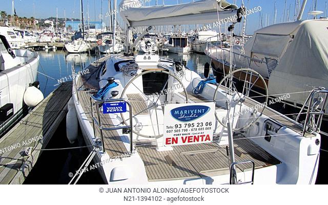 Yachts at Port Balís, Sant Andreu de Llavaneres, Barcelona, Catalonia, Spain, Europe