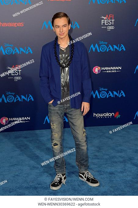 AFI FEST 2016 presented by Audi - 'Moana' - Premiere Featuring: Hayden Byerly Where: Los Angeles, California, United States When: 14 Nov 2016 Credit:...