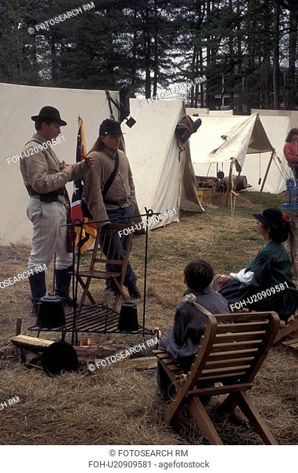 Atlanta, GA, Georgia, Georgia Stone Mountain Park, Antebellum Jubilee, Civil War Encampment