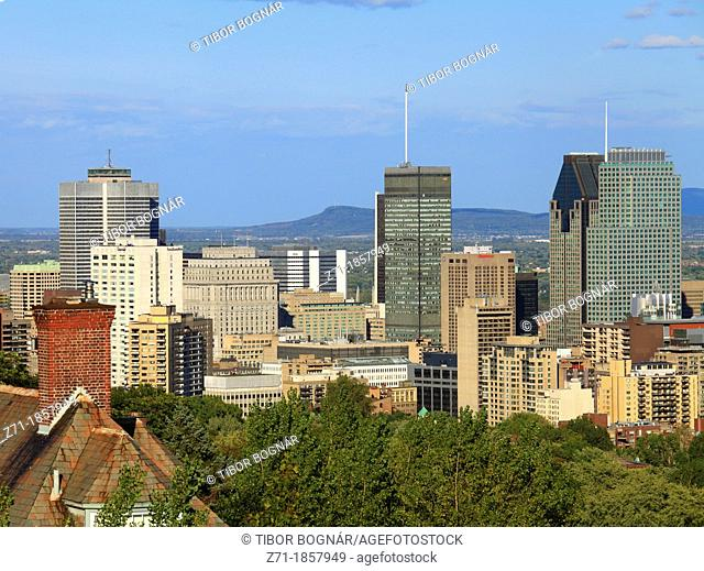 Canada, Quebec, Montreal, downtown, skyline