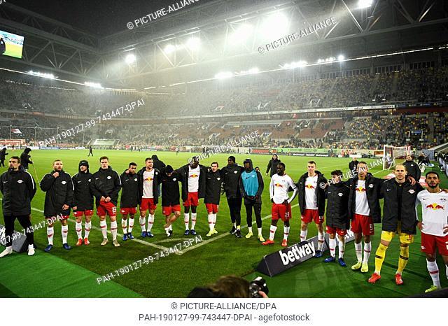 27 January 2019, North Rhine-Westphalia, Düsseldorf: Soccer: Bundesliga, Fortuna Düsseldorf - RB Leipzig, 19th matchday in the Merkur Spiel-Arena