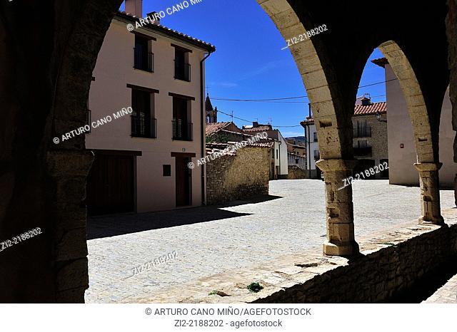 Gothic church of Saint Michael, XVth century. Cantavieja, Teruel, Spain