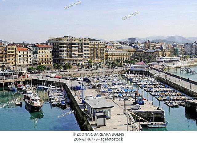 dock area, Hafenviertel, San Sebastian, Pais Vasco, Basque Country, Baskenland, Spanien, spain