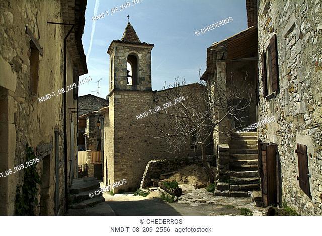 Buildings along a street, Provence, France