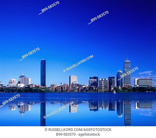 Back Bay Skyline, Boston, Massachusetts Usa