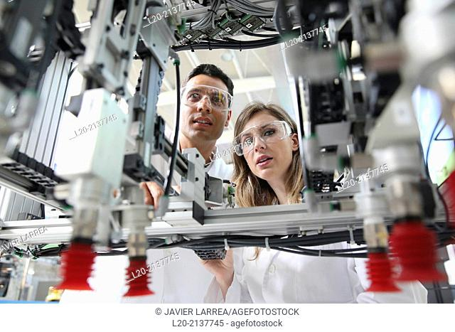 Robotic cell manufacturing composite preforms. Dry fiber preform manufacturing 3D. Industry, Technology and Research Centre, Technological Park, San Sebastian