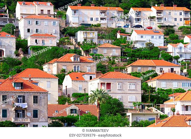 New town of Dubrovnik on the Adriatic Sea