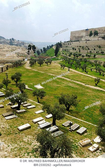 Kidron Valley with the tomb of Absalom, Jerusalem, Israel, Middle East
