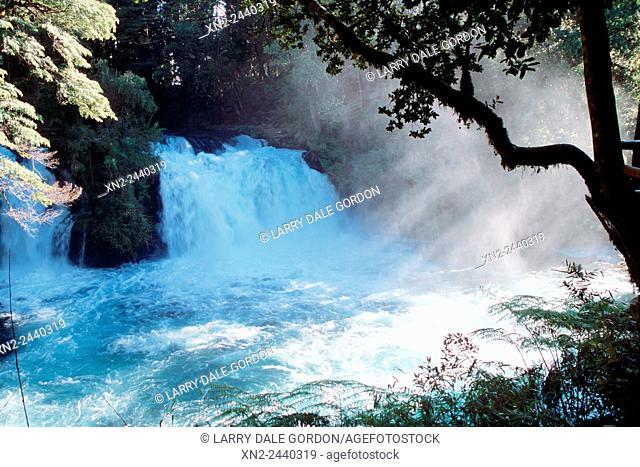 A Cascade Falls Near Coihaique in Southern Chile