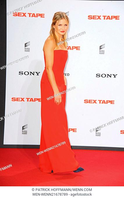 German premiere of 'Sex Tape' at Cinestar am Potsdamer Platz movie theater. Featuring: Cameron Diaz Where: Berlin, Germany When: 05 Sep 2014 Credit: Patrick...