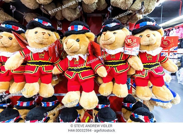 England, London, Souvenir Teddy Bears in Beefeater Costume