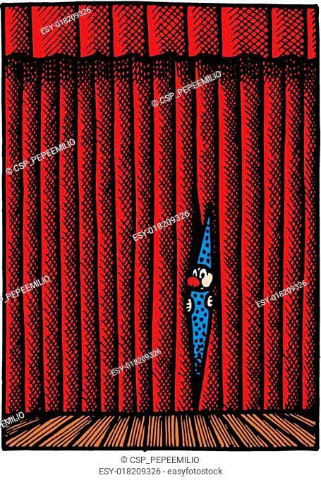 small clown in the theatre