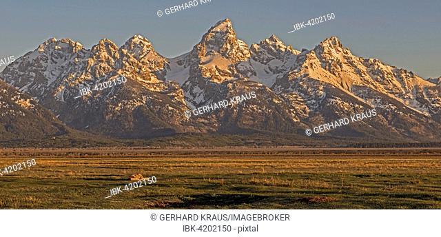 Teton Range, Grand Teton, Grand Teton National Park, Wyoming, USA
