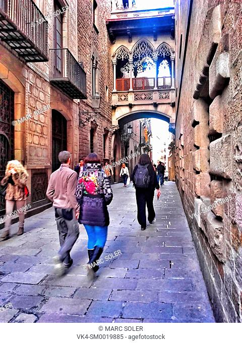 Carrer del Bisbe Irurita. Barcelona, Catalonia, Spain