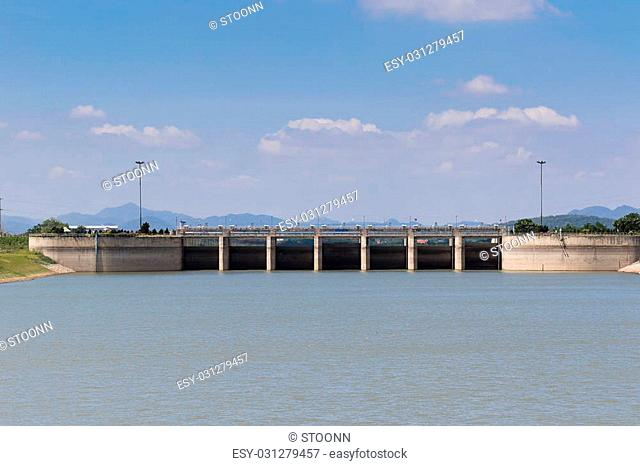 Pa Sak Jolasid Dam in Lopburi , Thailand