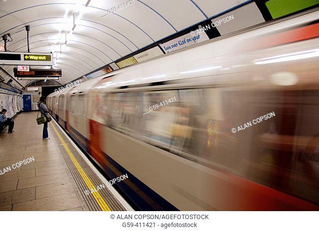 Underground Station at Oxford Circus. London. England. UK