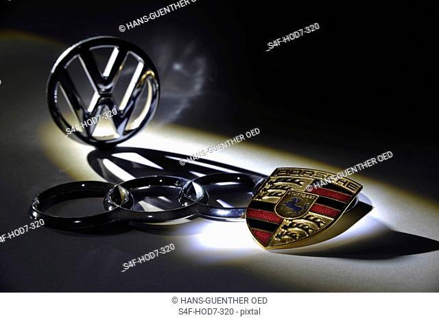 VW-, Audi- und Porsche-Logo
