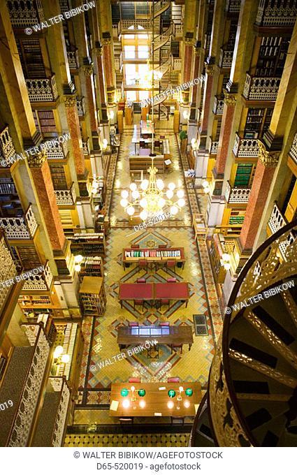 Iowa State Capitol. State Library Interior. Des Moines. Iowa. USA