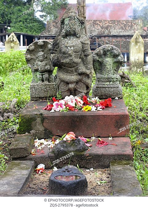Statue of Lord Nag (Snake) at Shri Krishna Temple, Ambalpuram, Kerala