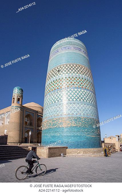 Uzbekistan , ,Khorezm Region,Khiva City,Itchan Kala, Kalta Minor Minaret (W.H.)