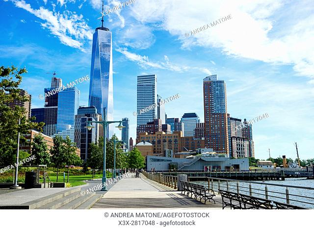 Hudson River Park. New York city. Manhattan. New York. USA