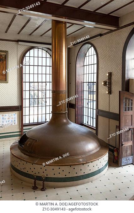 Copper boiler in the brewhouse of Birrificio Angelo Poretti (Angelo Poretti Brewery) was built in 1908. The project was designed by Bihl and Woltz Architecture...