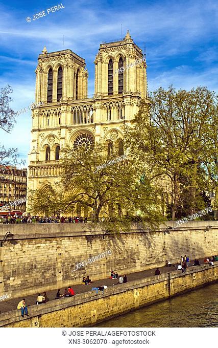 Notre-Dame Cathedral, Île de la Cité, River Seine, Paris, France, Europe