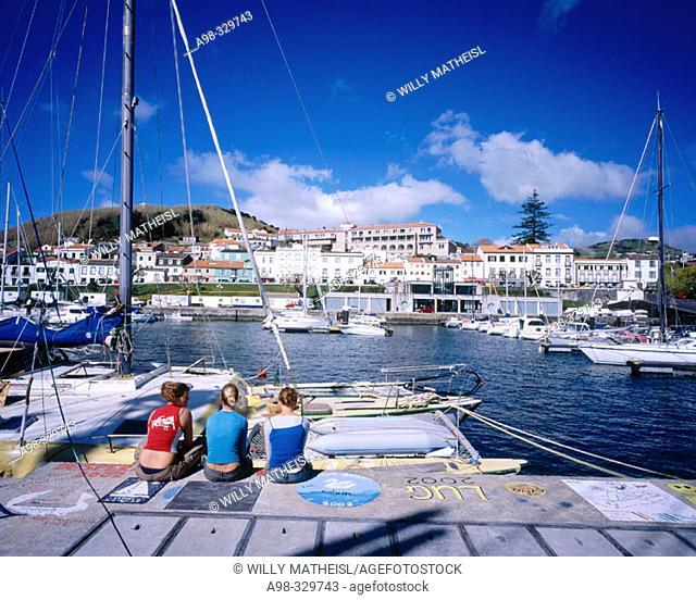 Marina. Horta. Faial Island. Azores. Portugal
