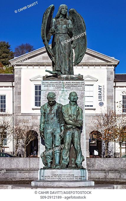 The Lusitania Peace Memorial, Casement Square, Cobh, Co. Cork, Munster,Ireland
