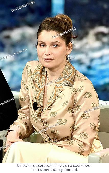 Laetitia Casta during the tv show Che tempo che fa, Milan, ITALY-07-04-2019