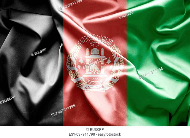 Waving flag afghanistan Stock Photos and Images   age fotostock