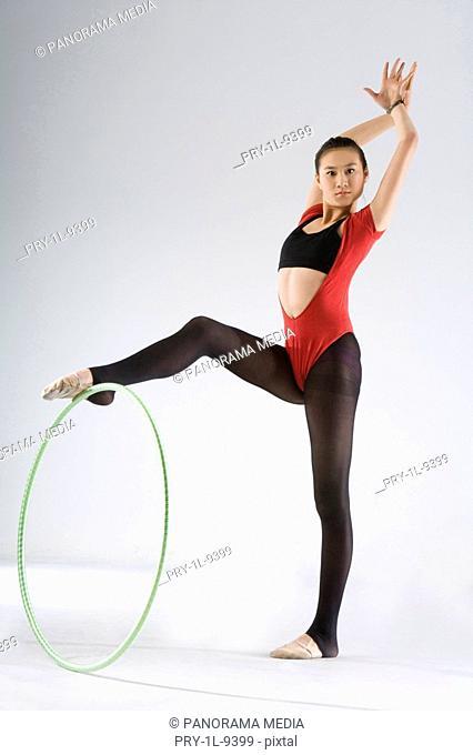 eurythmics,hoop exercise