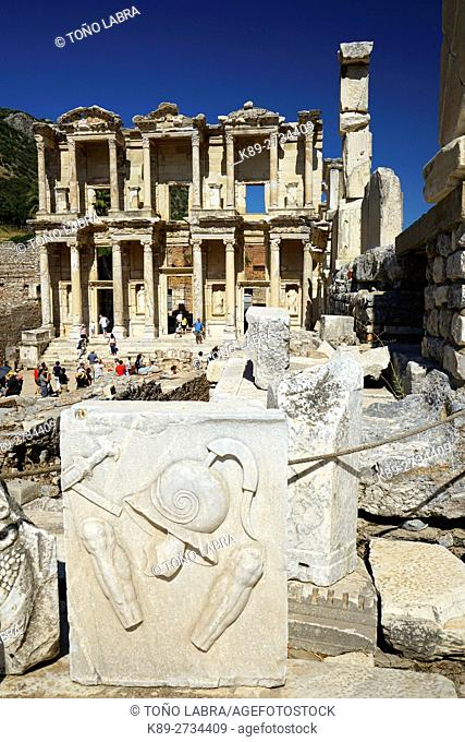 Library of Celsus. Ephesos. Ancient Greece. Asia Minor. Turkey