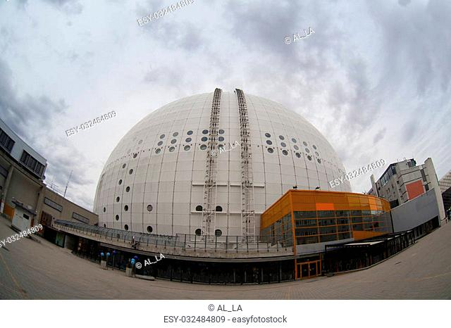 Architectural detail of the Ericsson Globe, the national indoor arena of Sweden