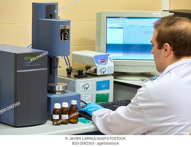Rheometer. Pharmaceutical Development Laboratory. Pre-formulation, design and development of drugs and new pharmaceuticals
